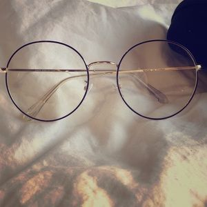 Accessories - Round glasses frames (color: gold with soft black)